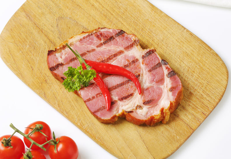 Geroosterd varkensvleesvlees royalty-vrije stock fotografie