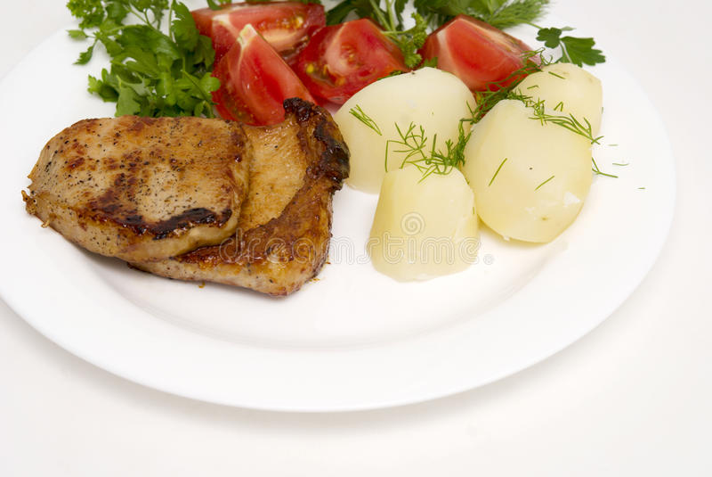 Download Geroosterd vlees stock foto. Afbeelding bestaande uit aardappel - 10778608