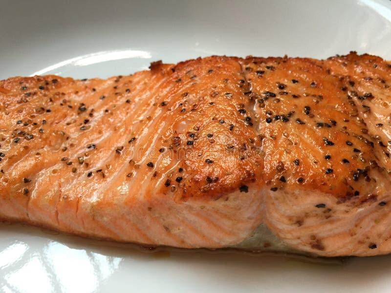 Geroosterd zalmlapje vlees royalty-vrije stock foto