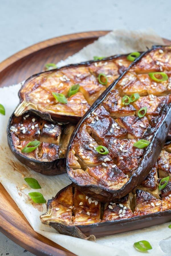 Geroosterde aubergine met Miso Glans, nasudengaku royalty-vrije stock afbeelding