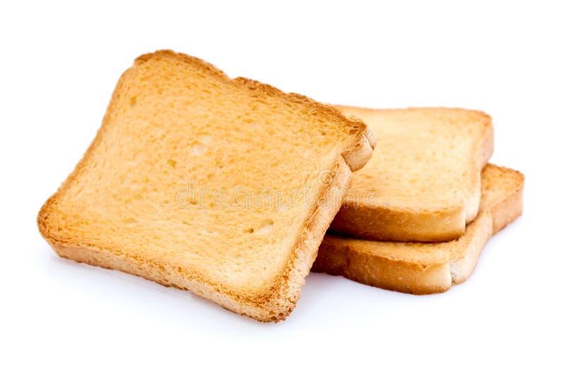 Geroosterde broodplakken stock fotografie
