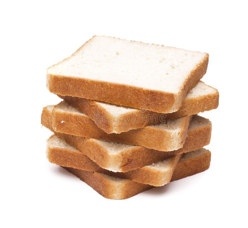 Geroosterde broodplakken voor ontbijt stock afbeelding