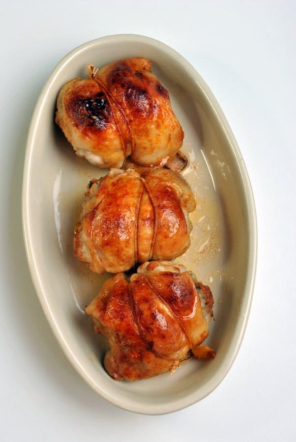 Geroosterde heerlijke kippenolijf stock foto's
