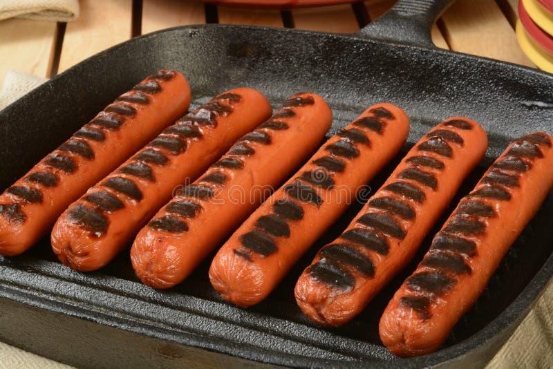 Geroosterde Hotdogs royalty-vrije stock afbeelding