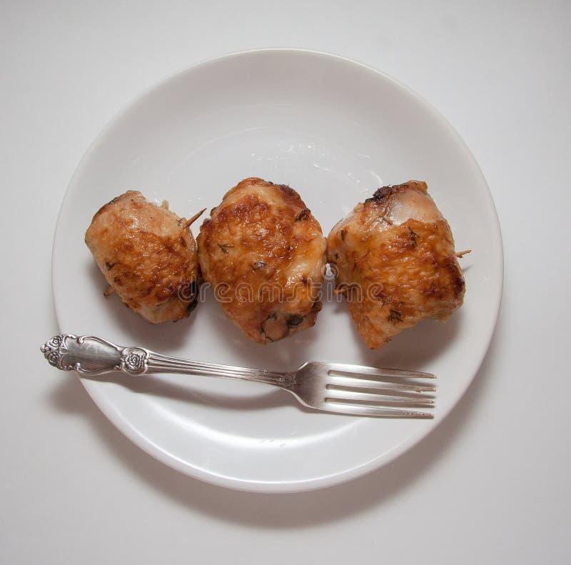 Geroosterde kippenbroodjes royalty-vrije stock afbeeldingen
