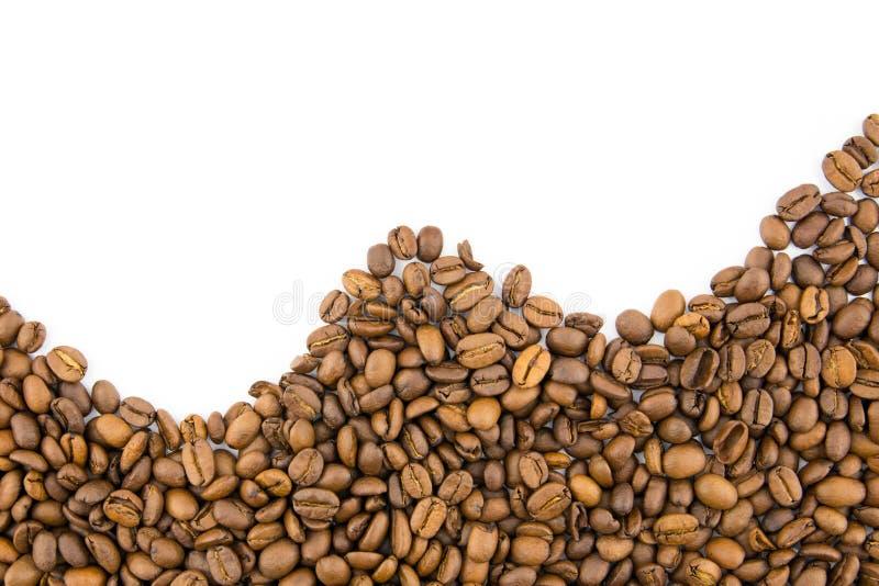 Geroosterde koffiebonen stock afbeeldingen