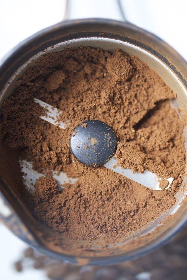 Geroosterde korrels van zwarte koffie stock foto