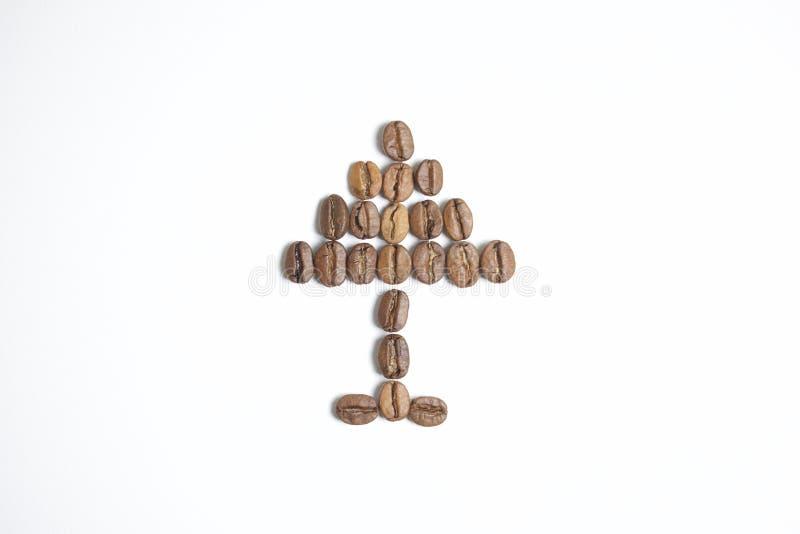 Geroosterde korrels van zwarte koffie stock fotografie