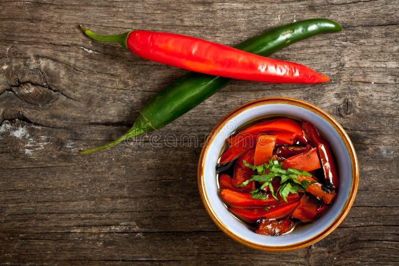 Geroosterde peper stock afbeelding