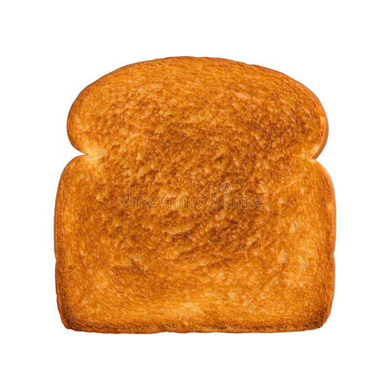 Geroosterde plak van wit brood stock foto's