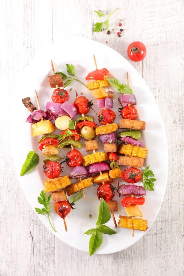 Geroosterde plantaardige vleespen, stock afbeeldingen