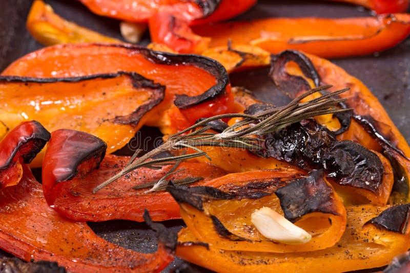 Geroosterde rode paprika royalty-vrije stock afbeeldingen