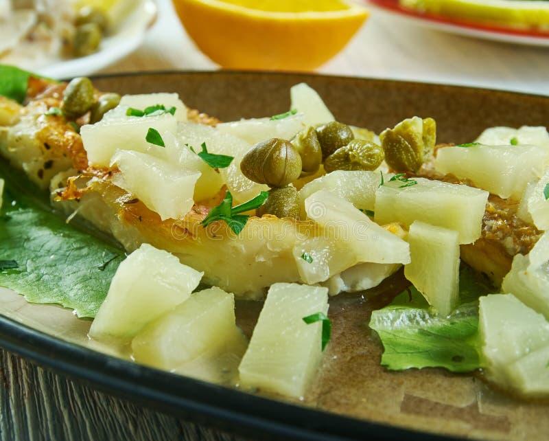 Geroosterde Snapper met ananas Salsa stock fotografie