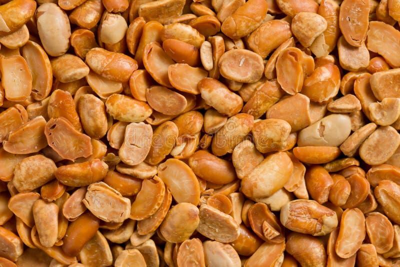 Geroosterde sojabonenachtergrond stock afbeelding