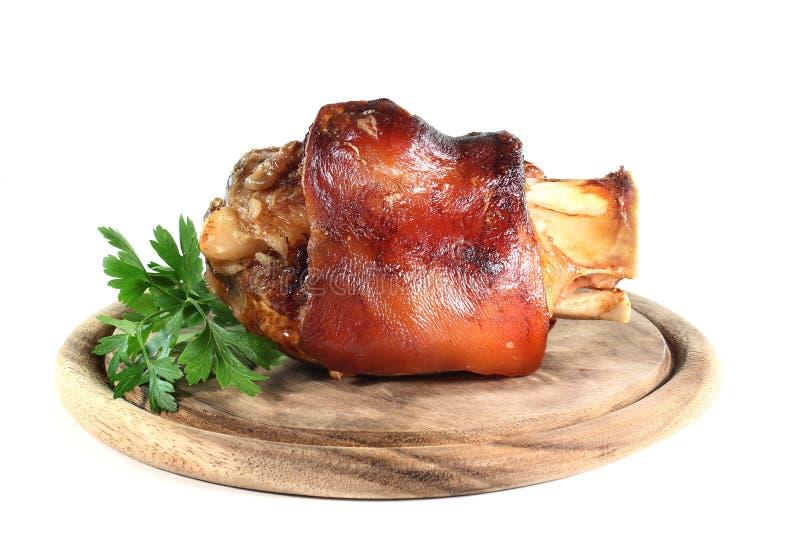 Geroosterde varkensvleesRijnwijn royalty-vrije stock afbeelding