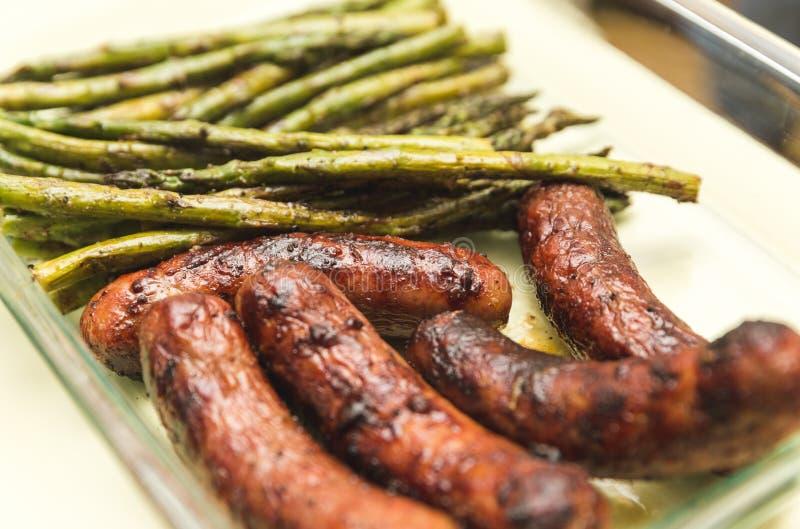 Geroosterde vlees en groenten royalty-vrije stock fotografie