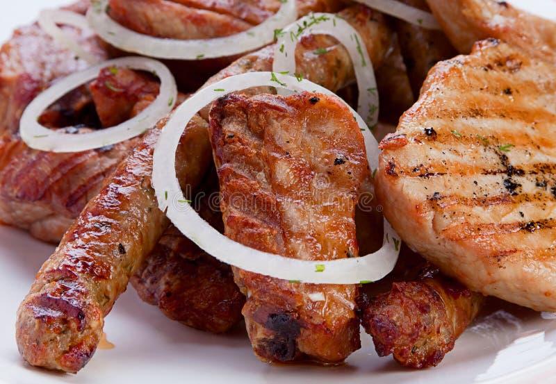 Geroosterde vleesmengeling stock foto's