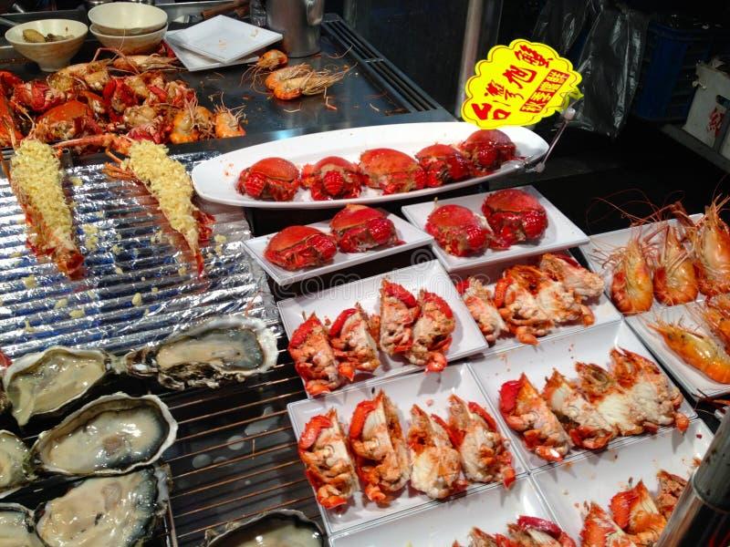 Geroosterde zeevruchten stock foto's