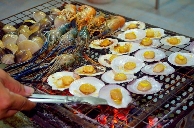 Geroosterde zeevruchten royalty-vrije stock foto