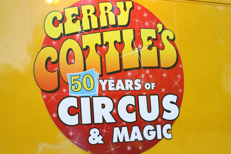 Download Gerry Cottle's Circus editorial stock photo. Image of advertisement - 24767588