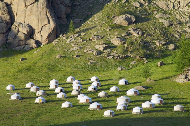 gers蒙古语 免版税库存照片