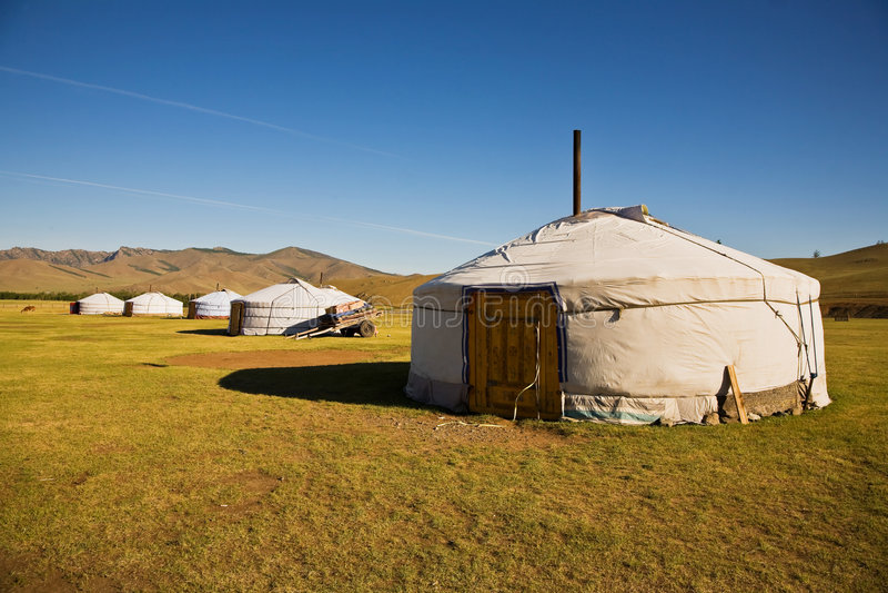 Gers Mongolië stock fotografie
