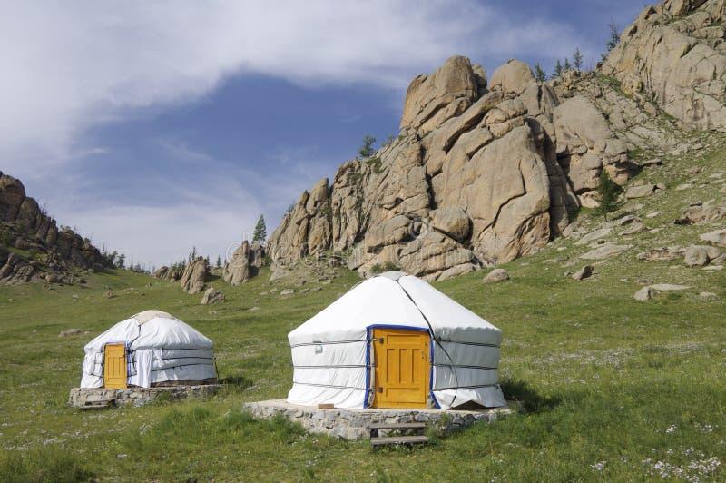 gers mongolian arkivbild