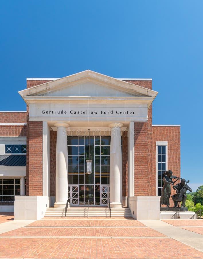 Gertrude Castellow Ford Center For as artes de palco fotografia de stock royalty free