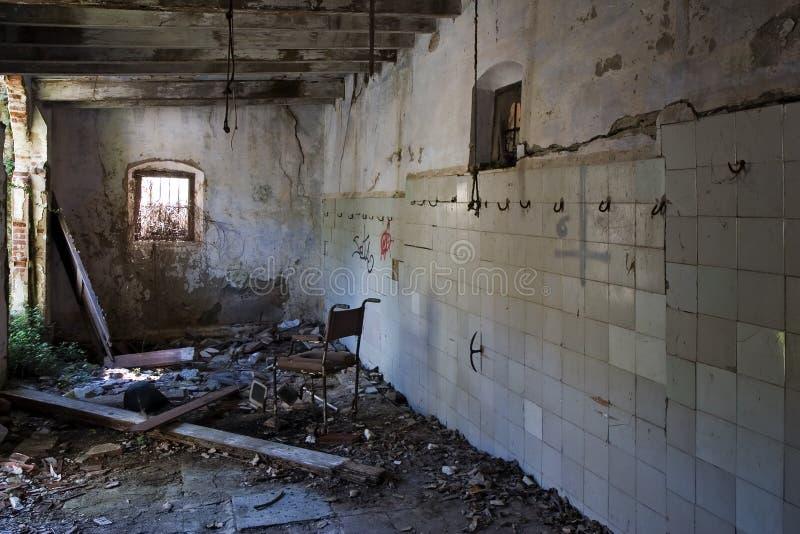 Geruïneerd slachthuis stock foto's