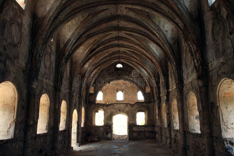 Geruïneerde kerk royalty-vrije stock foto's