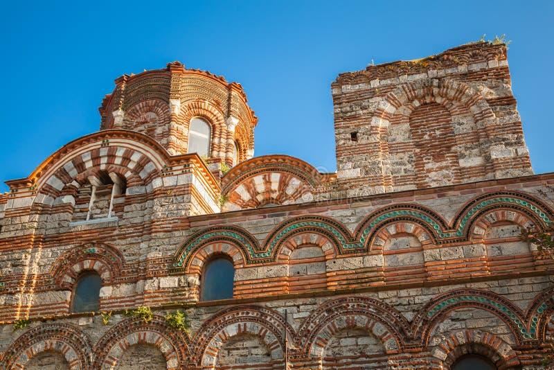 Geruïneerde Kerk van Christus Pantokrator, Nessebar royalty-vrije stock foto