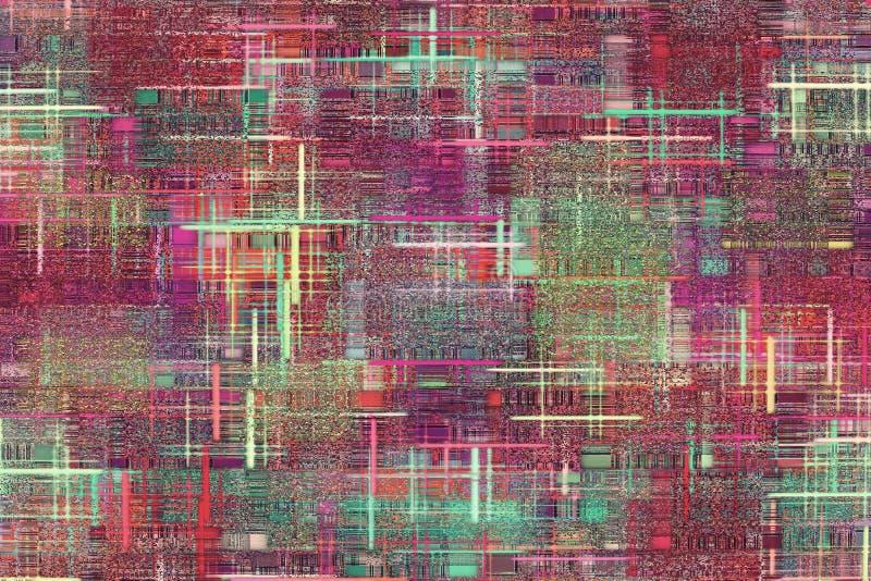 Geruit en flardpatroon als abstracte achtergrond vector illustratie