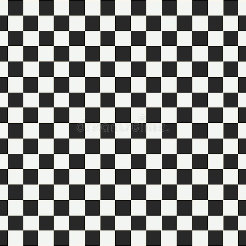 Geruit geometrisch naadloos patroon met kleine scherpe vierkante vormen Abstracte zwart-wit zwart-witte textuur royalty-vrije illustratie