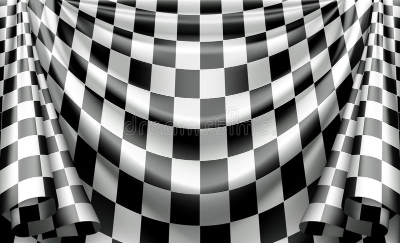 Geruit Gordijn vector illustratie