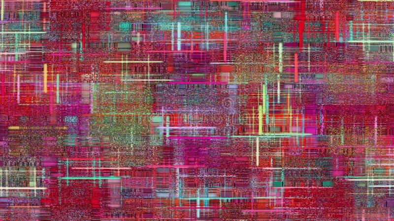 Geruit multicolored lapwerkpatroon als abstracte achtergrond royalty-vrije illustratie