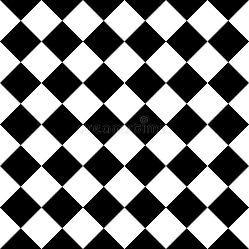 Geruit naadloos patroon als achtergrond van vierkanten in diagonale regeling vector illustratie