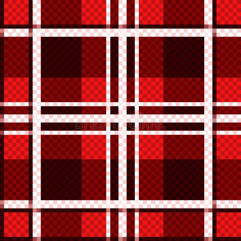 Geruit naadloos patroon in rode tinten royalty-vrije illustratie