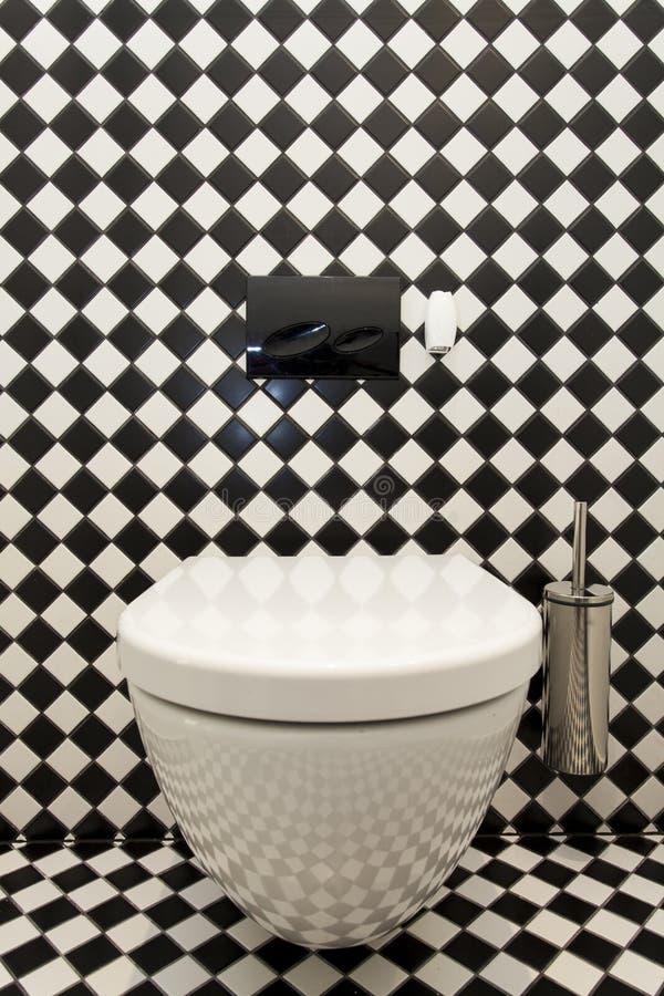 Geruit patroon in toilet royalty-vrije stock afbeeldingen