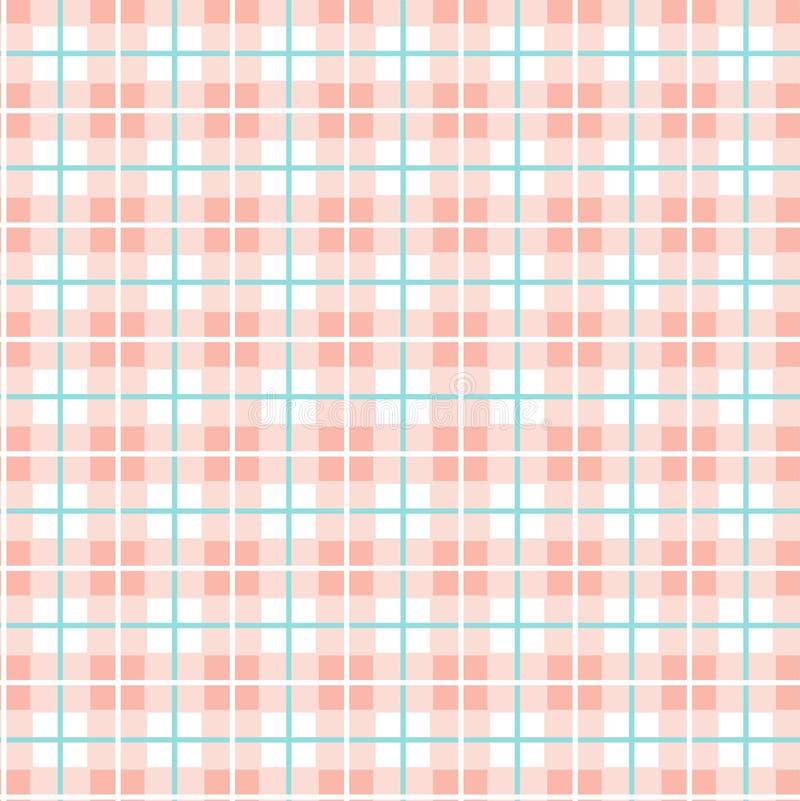 Geruit patroon van klein vierkanten naadloos achtergrond, roze en wit, vector royalty-vrije illustratie