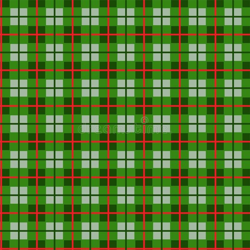 Geruit patroon van kleine groen vierkanten naadloze achtergrond, vector royalty-vrije illustratie
