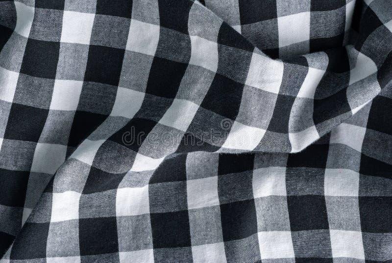 Geruit geruit patroon in zwart-wit royalty-vrije stock afbeeldingen