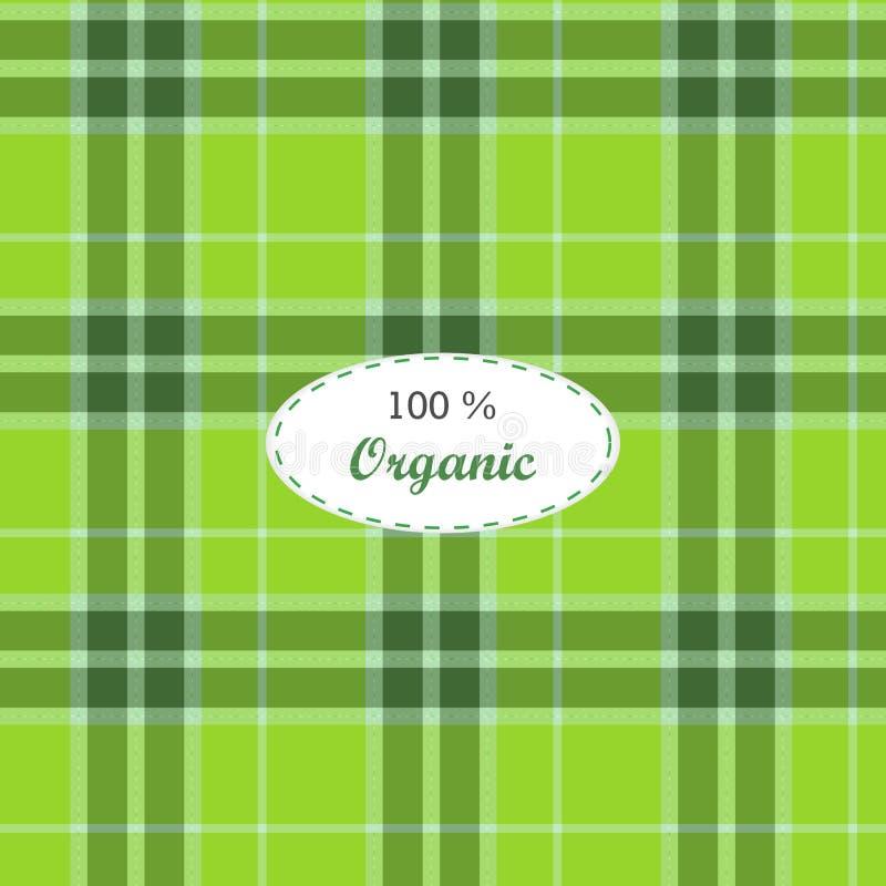 Geruit Schots wollen stof traditionele geruite Britse stof stock illustratie