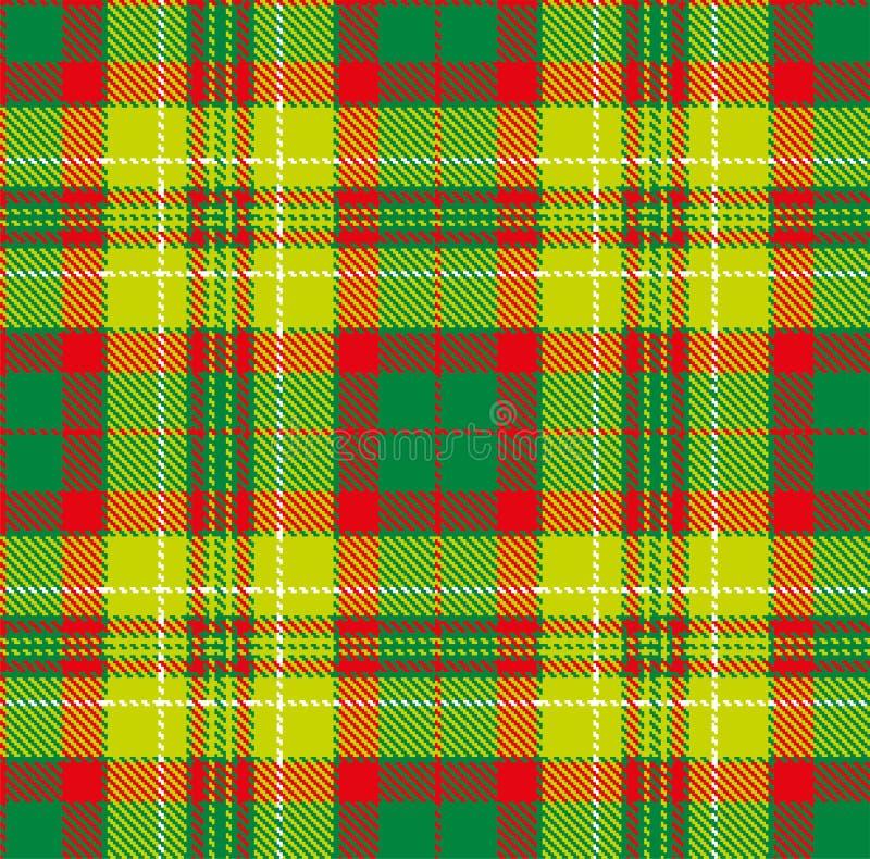 Geruit Schots wollen stof, vectorpatroon in plaid met een herhaalbaar motief royalty-vrije illustratie