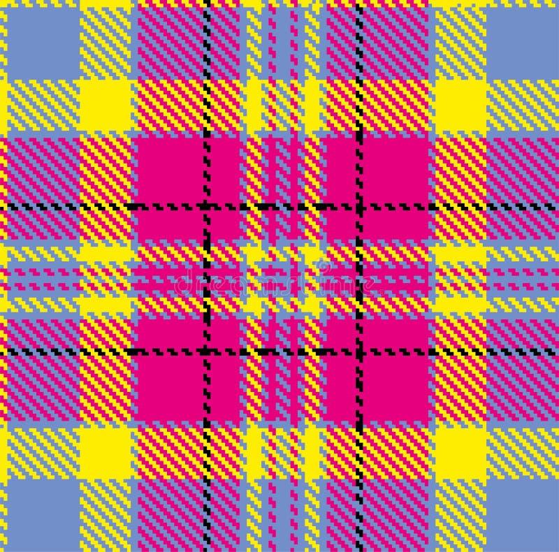 Geruit Schots wollen stof, vectorpatroon in plaid met een herhaalbaar motief stock illustratie