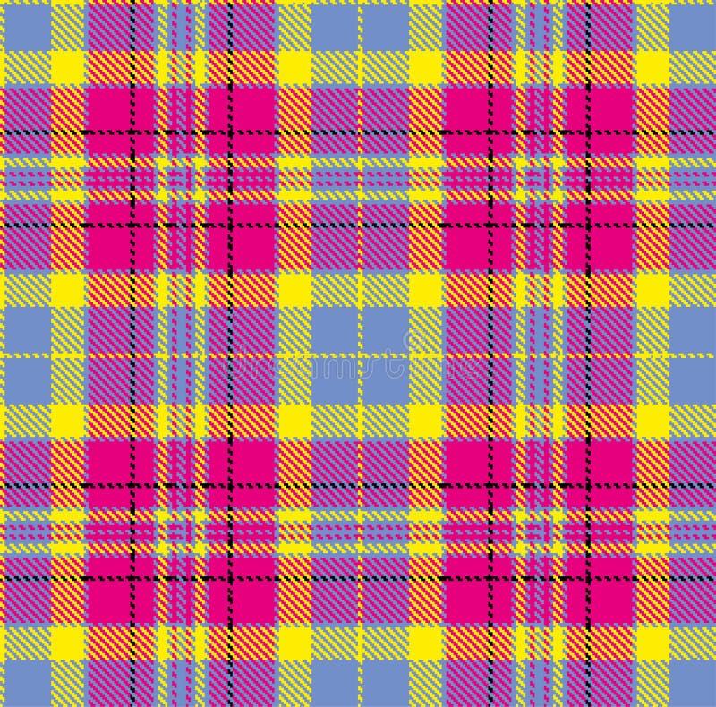 Geruit Schots wollen stof, vectorpatroon in plaid met een herhaalbaar motief vector illustratie