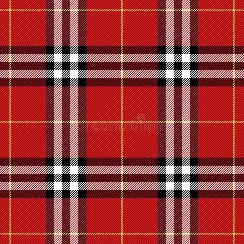 Geruit Schots wollen stofpatroon Schotse kooiachtergrond vector illustratie