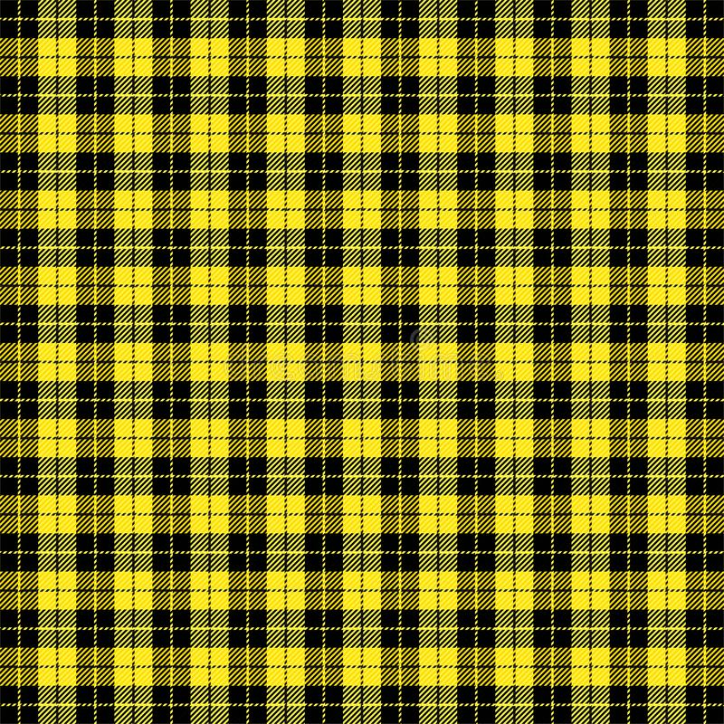 Geruit Schots wollen stofpatroon Schotse kooiachtergrond royalty-vrije illustratie