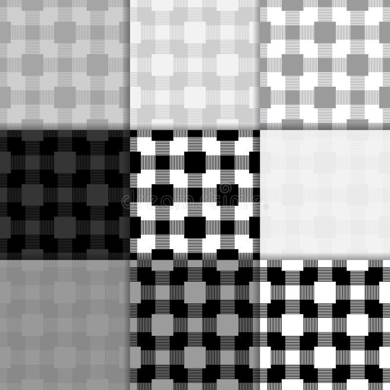 Geruit zwart-wit behang Naadloos patroon stock illustratie