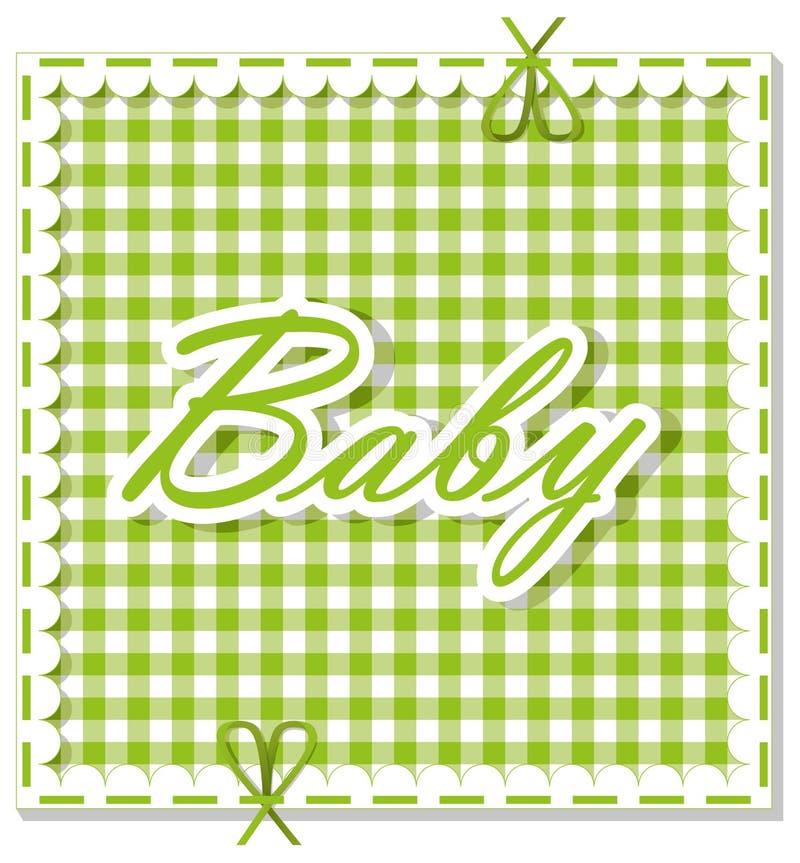 Geruite baby als achtergrond vector illustratie