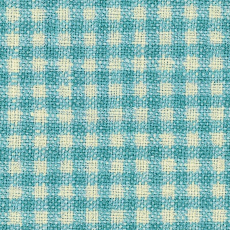 Geruite blauwe geweven stoffentextuur royalty-vrije stock fotografie
